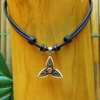 Lederkette Celtic Surferkette Herrenkette Damenhalskette Damenkette Halskette