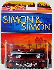 HOT WHEELS 2014 RETRO TV SHOWS SIMON & SIMON 1957 CHEVY BEL AIR CONVERTIBLE
