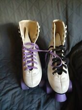 Skate Gear Roller Skates Size 5 - White and Purple /Womens/ Youth