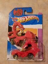 HotWheels carded Red Rodzilla, Year of the Dragon edition.