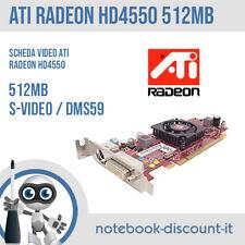 ATI Radeon HD 4550 512mb DMS59 S-VIDEO Scheda Video 584217-001 HP Low profile