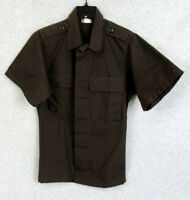 US Military Men's Dark Brown Tactical Uniform BDU Coat Short Sleeve Size XS Reg