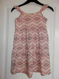 NWOT Girls Pink Patterned Summer Dress Age 7 Years from Matalan