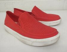 Crocs Iconic Comfort Perforated Lightweight Red Slip-On Shoes US Men's 4 GREAT