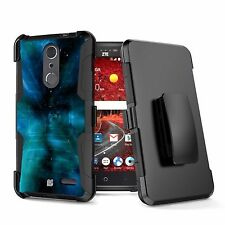 Rugged Armor Case w/Stand+Holster Clip for ZTE Grand X 4 Z956 Blade Spark Z971