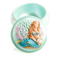 Beautifully Finished and Hand Painted Mermaid Trinket Box Collectible