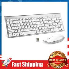 Wireless Keyboard & Mouse Combo,USB Slim 2.4G Full Size Ergonomic for Computer
