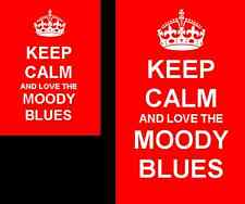 Keep Calm And Love The Moody Blues 2 Sided Keyring And Fridge Magnet Set