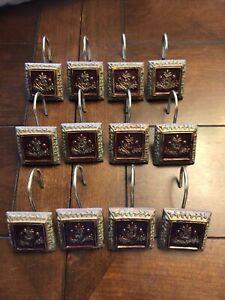 12 Decorative Shower Hooks*