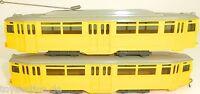 2 teilig Straßenbahn Motorwagen und Beiwagen GELB Wiking 740 741 H0 1:87 UY3 å *