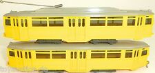 2 TEILIG Tramway Automobile et SIDE-CAR jaune WIKING 740 741 H0 1:87 #uy3 √ Å