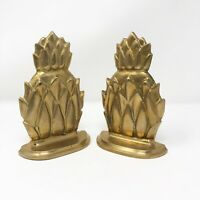 Vintage Classic Brass Artichoke Pineapple Bookends