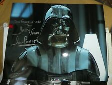 """Star wars Signed Dave Prowse Darth Vader autograph 10"""" x 8"""" Birmingham NEC"""