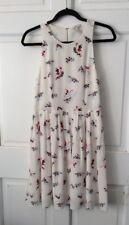 Beautiful Joie Silk Sheath Dress Sz S or Sz 2 White Vintage Print Lined $348