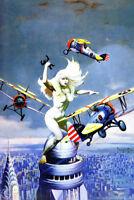 Queen Kong by Frank Frazetta Art Print Poster 12x18 inch