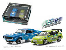 FAST AND FURIOUS 1969 CAMARO YENKO & LANCER EVOLUTION 1/43 GREENLIGHT 86253