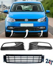 NEW VW POLO 6R 6C 2014 - 2018 FRONT BUMPER LOWER GRILLE CHROME LEFT RIGHT SET