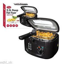 Quest 35230 Deep Fat Fryer with Removable Window Lid, 2.5L Litre, 1800 W - Black