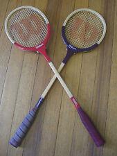 Vintage Pair of Wilson Squash racquets Champion & Scorpion