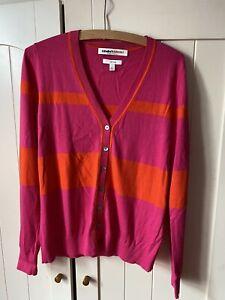 Clements Ribeiro Womens Pink Orange Cardigan Size Large