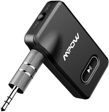 New Mpow BH129 Bluetooth Receiver for Car, Aux, Bluetooth 15-Hour Battery w/ Mic