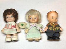 Vintage 1965 Uneeda Pee Wees Lot 3 Dolls Policeman, Nurse, Girl Doll W/ Outfits