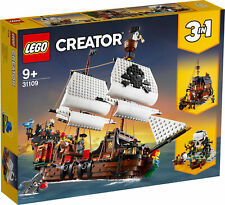 31109 LEGO Creator Pirate Ship 3-in-1 Boat Island Set 1264 Pieces Age 9+