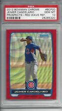 pop 1 - 2012 Bowman Chrome RED Wave REF #BCP20 Jeimer CANDELARIO - PSA 10+++ RC
