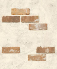 1m/m Modern Brown Brick Interior vinyl wall makeover Wallpaper Self adhesive