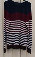 H&M stripy lambswool blend jumper size M