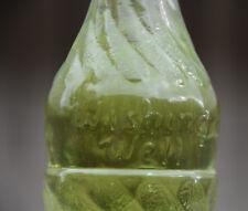 "Embossed WISHING WELL SODA National Dry 8oz Swirl Glass Pop Bottle Canada 8"""