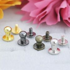 """Sam Browne Button & Screw choose size 3/8"""" Or 5/16"""",color & quantities Usa Ship"""