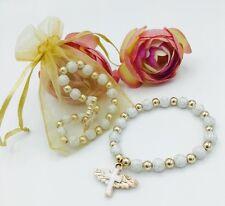 24First Communion Party Favors Baptism Bracelets Recuerdos De Bautizo GOLD BAGS