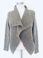 Merona Womens Brown Color Size Large Soft Cozy Open Cardigan Sweater Thick Knit
