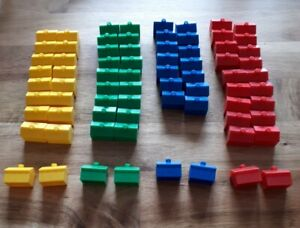 Monopoly Junior 74 Houses Hasbro Spare Replacement Pieces Red Blue Green Yellow