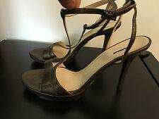 MAXMARA MAX MARA gold/cooper leather high heels sandles shoes IT38/US8/AU7/UK5