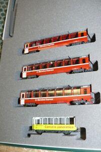 HS Kato  10-1656 Noch 7074057 Bernina Express   Ergänzungs-Set  4-teilig, Sp N