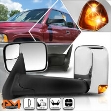 For 94-97 Dodge Ram 1500-3500 Power Chrome Side Towing Mirror w/LED Signal Lamp