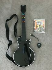 PlayStation 3 PS3 Guitar Hero Wireless Les Paul Gibson Dongle, Strap, Game