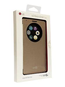 OEM LG Quick Circle Convenient Folio Case for LG G3 - Gold