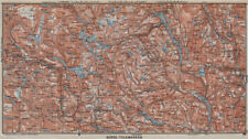 NORTH TELEMARKEN topo-map. Kongsberg Dalen Bakken. Norway kart 1912 old
