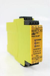 Pilz Pnoz X2.8P 24VACDC 3n/O 1n/C Not-Aus-Dispositivo Relé de Seguridad