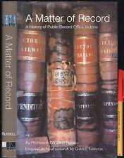 RARE! A Matter of Record PUBLIC RECORDS VICTORIA Australia EC 227pg HCDJ