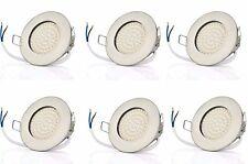 6 X Sw-68n Sweet LED flache LED Einbaustrahler Ultra (rund Chrom Warmweiss)
