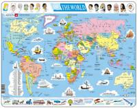 Political Map of The World- Frame/Board Jigsaw Puzzle 29cm x 37cm (LRS K1-GB)
