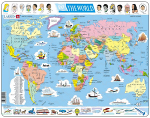 Political Map of The World- Frame/Board Jigsaw Puzzle 29cm x 37cm (LRS K1-GB)