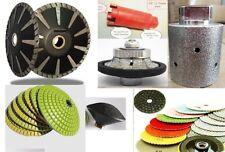 "1/2"" granite bullnose stone convex 25 polishing pad convex blade core bit drum"