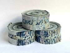 "Batik JELLY ROLL 40 x 2.5"" Strips 100 % Cotton, Tones of Grey"