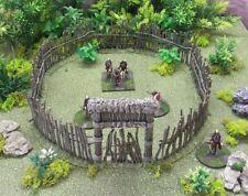 28MM COLONIALE AFRICA Palizzata-dipinto-Congo/MORTE NEL CONTINENTE NERO