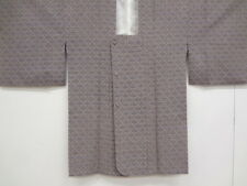 OLD JAPANESE KIMONO, MICHIYUKI COAT, DYED MODERN, CRAFT MATERIAL, FROM JAPAN